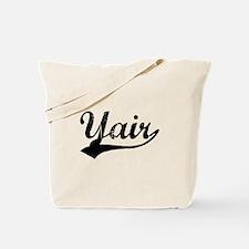 Vintage Yair (Black) Tote Bag