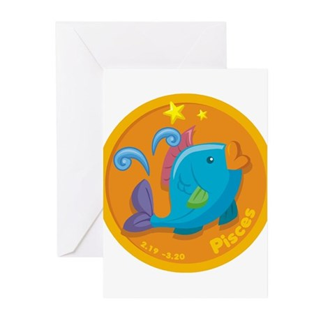 PISCES (31) Greeting Cards (Pk of 10)