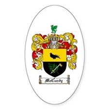 McCurdy Family Crest Oval Decal