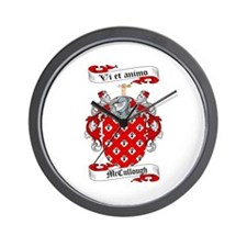 McCullough Family Crest Wall Clock