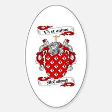 McCullough Family Crest Oval Decal