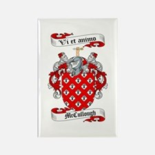 McCullough Family Crest Rectangle Magnet (10 pack)
