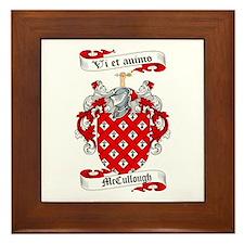 McCullough Family Crest Framed Tile