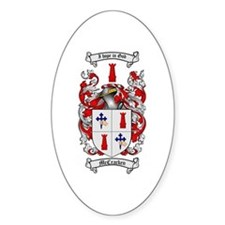 McCracken Family Crest Oval Bumper Stickers