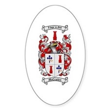 McCracken Family Crest Oval Decal