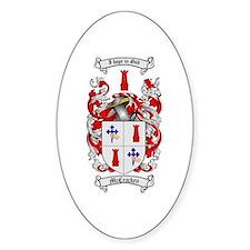 McCracken Family Crest Oval Stickers