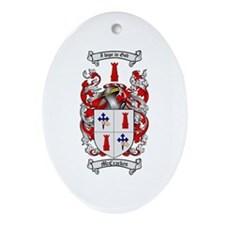 McCracken Family Crest Oval Ornament