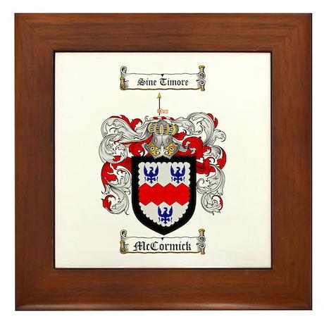 McCormick Family Crest Framed Tile