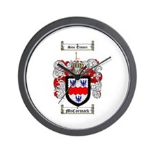 McCormack Family Crest Wall Clock