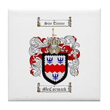 McCormack Family Crest Tile Coaster