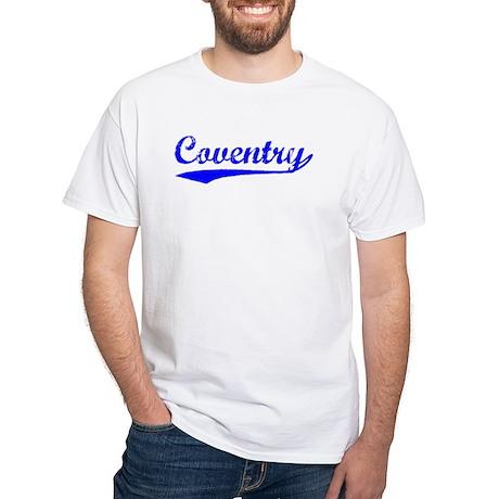 Vintage Coventry (Blue) White T-Shirt