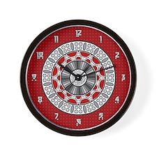 Aztec Meets Alien Wall Clock