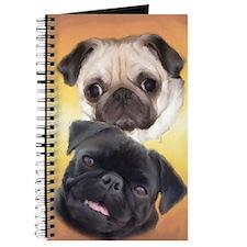 Pugaholics Journal - Fawn & Black Pug Pair