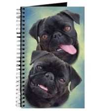 Pugaholics Journal - Black Pug Pair