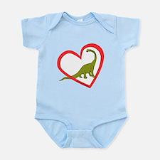 Heart Apatosaurus Infant Bodysuit