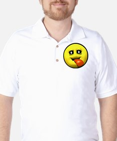 Window Licker Face Golf Shirt