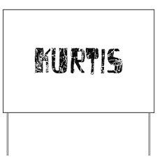Kurtis Faded (Black) Yard Sign