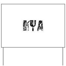 Kya Faded (Black) Yard Sign