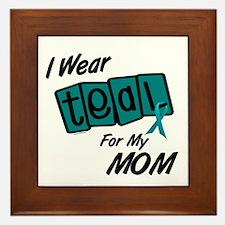 I Wear Teal 8.2 (Mom) Framed Tile