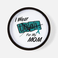 I Wear Teal 8.2 (Mom) Wall Clock