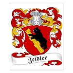 Zeidler Family Crest Small Poster