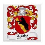 Zeidler Family Crest Tile Coaster
