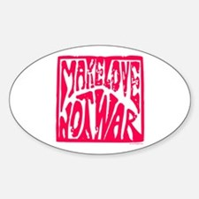 Make LOVE, NOT War Decal