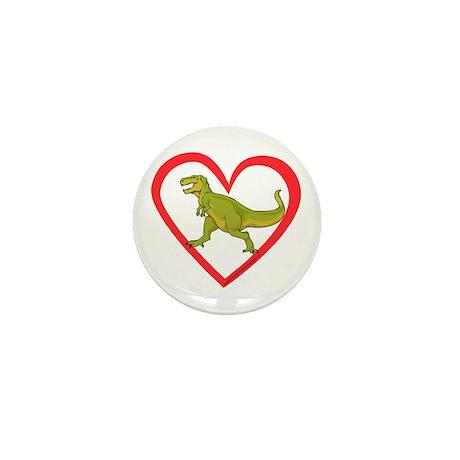 Heart Tyrannosaurus Mini Button