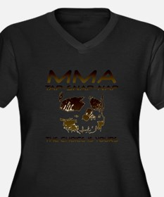 MMA Shirts and Gifts Women's Plus Size V-Neck Dark