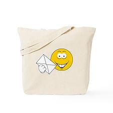 Postal Smiley Face Tote Bag