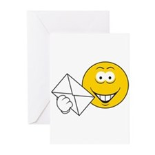 Postal Smiley Face Greeting Cards (Pk of 10)