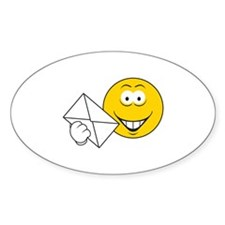 Postal Smiley Face Oval Decal