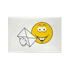 Postal Smiley Face Rectangle Magnet