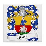 Zeller Family Crest Tile Coaster