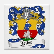 Zeller Family Crest Tile Coaster