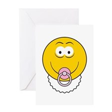 Cute Baby Smiley Face Greeting Card