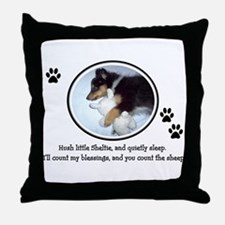 Sweet Sleeping Puppy Throw Pillow
