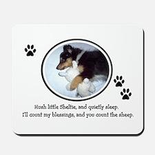 Sweet Sleeping Puppy Mousepad