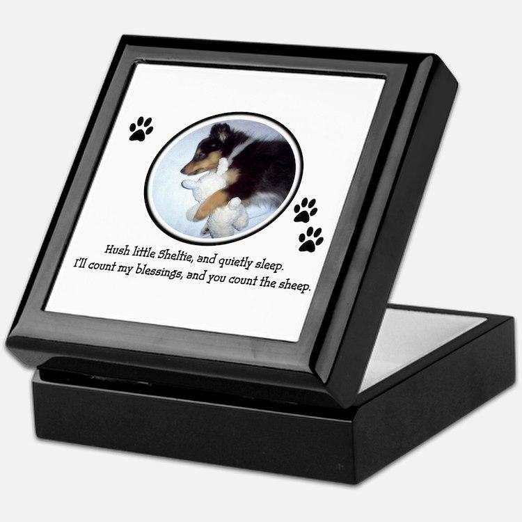 Sweet Sleeping Puppy Keepsake Box