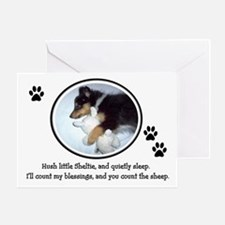 Sweet Sleeping Puppy Greeting Card