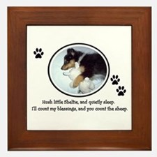 Sweet Sleeping Puppy Framed Tile