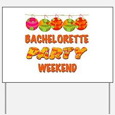 Tropical Bachelorette Weekend Yard Sign