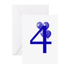 4 Greeting Cards (Pk of 10)