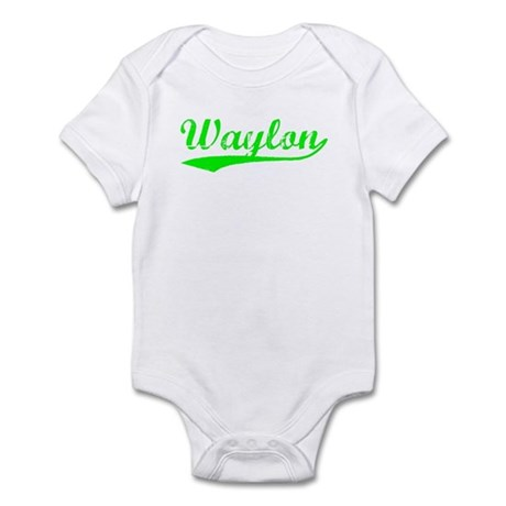 Vintage Waylon (Green) Infant Bodysuit