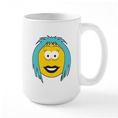 Blue Hair Emo Girl Smiley Mug