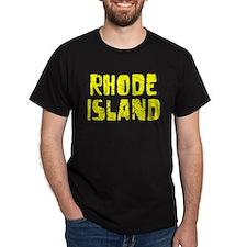 Rhode Island Faded (Gold) T-Shirt