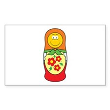 Nesting Doll Smiley Face Design Decal
