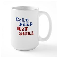 Cold Beer Hot Grill - Mug