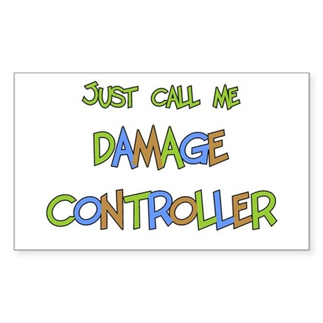 Damage Controller Rectangle Sticker