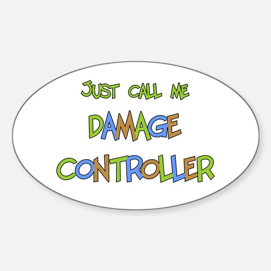 Damage Controller Oval Decal